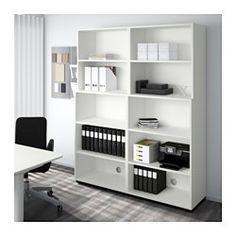 Büromöbel weiß ikea  GALANT Aufbewahrung mit Schiebetüren, weiß | Arbeitszimmer ...