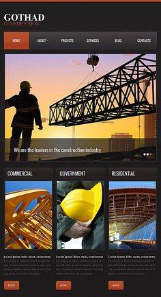 Architecture //  Facebook HTML CMS Template // Template #43675