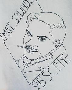 James Patrick March  / en cours // That's sounds obscene  lili.stration#pen #pencilart #instaart #instaartist #pencilart #penart #penartwork #artwork #art #drawing #draw #pensketch #sketch #sketchbook #sketching #sketchoftheday #ahs #ahs5hotel #ahs5 #americanhorrorstory #jamespatrickmarch #jamespatrick #evanpeters #lilistration