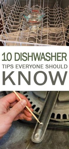Dishwasher, Dishwasher Cleaning Tips, Cleaning Tips and Tricks, How to Clean You… - Home Cleaning Hacks