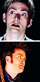 """David Tennant in gif format. Because we like it., Doctor Who Meme: [1/1] doctor ↳ """"I don't want to..."""