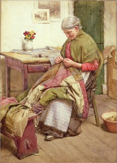 walter-langley-the-old-quilt