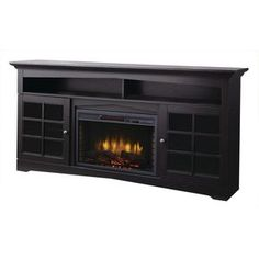 Avondale Grove 70 in. Media Console Infrared Electric Fireplace in Aged Black