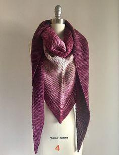 Dk Weight Yarn, Garter Stitch, Stitch Markers, Ravelry, Shawl, Knitting Patterns, How To Make, Color, Fashion