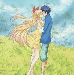 Chitoge and raku true love