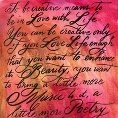 Modern Brush Calligraphy at Art and Soul Retreat