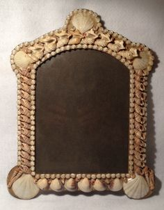 Rare 1800's Victorian Sailors Valentine Shell Art Picture Frame