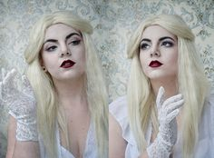 White Queen - Alice in Wonderland makeup by demolition13lover.deviantart.com on @deviantART