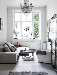 Scandinavian Living Room with Big Window - Scandinavian Interiors