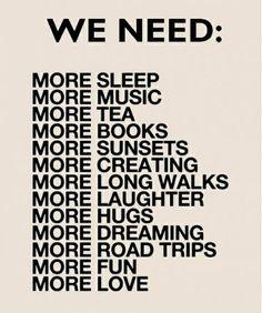 Abbiamo bisogno di tutto!!