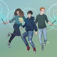 HP Trio - art by emmilinne