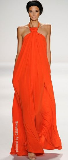 Kaufmanfranco Spring 2014 Ready-to-Wear Fashion Show Look Fashion, Runway Fashion, High Fashion, Fashion Show, Womens Fashion, Fashion Design, Dress Fashion, Mode Orange, Mode Glamour