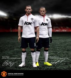 "ZCWO ZC World 1/6 @ManUtd Manchester United Ryan #Giggs and #Rooney 12"" Figures"