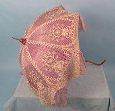 Bobbin lace parasol, c 1910