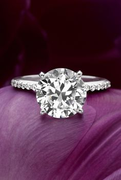 Gorgeous diamond engagement ring - love this setting! http://rstyle.me/n/qw2mhnyg6