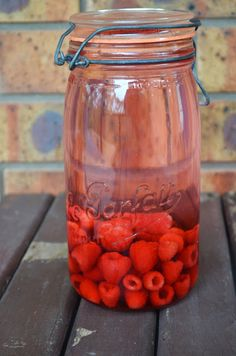 How to make your own raspberry infused vodka!