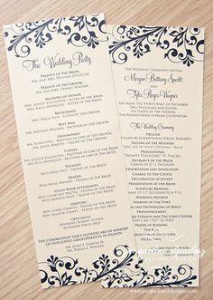 New Year's Eve wedding programs