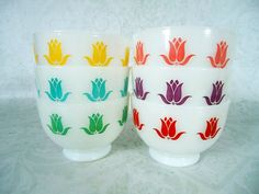 Fire King Sealtest Cottage Cheese Cereal Bowls by SwirlingOrange11, $175.00