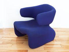 Mid Century Purple Djinn Chair / 1965 Olivier Mourgue by PopBam