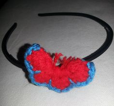 Hairband with a crochet butterfly. Crochet Butterfly, Hair Band, Crochet Necklace, Unique, Jewelry, Fashion, Moda, Jewlery, Jewerly