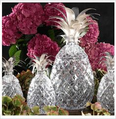 Crystal pineapples.. love these.