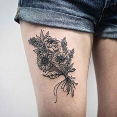 Bunch of Flowers Tattoo