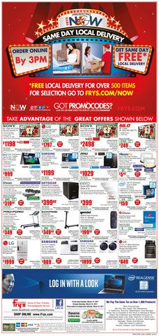Fry's Electronics Weekly Ad March 12 - 18, 2017 - http://www.olcatalog.com/electronics/frys-weekly-ads.html