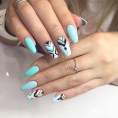 Make an original manicure for Valentine's Day - My Nails Rodeo Nails, Cute Nails, Pretty Nails, Nail Manicure, Nail Polish, Mirror Nails, Gel Nail Designs, Nails Design, Nagel Gel