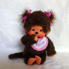 Monchhichi Sekuguchi Monkey Girl Cute Bib Dummy Monchichi