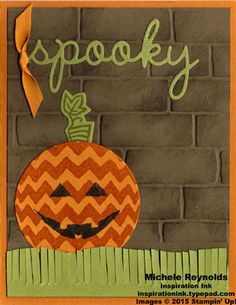 Sparkly Seasons Spooky Jack o'Lantern by Michelerey - Cards and Paper Crafts at Splitcoaststampers