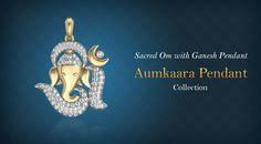 Evoke the inner spirituality with Sacred Om with Ganesh Pendant.. #Pendants #DiamondPendants #OmPendants #GaneshPendants