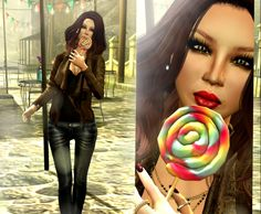 Lollipop SL Pose Gift, Second Life Freebies and Photography. The group gift is the lollipop pose, which also includes the lollipop as an object to add t...