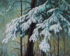 First Snow of 2012....an oil painting by..Greg Hand ...Commission a drawing or painting from your photo