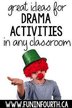 Great Ideas for Teaching Drama Check out these fun and free drama activities for kids. Great ideas and games for teaching young children. Drama Games For Kids, Drama Activities, Art Therapy Activities, Art Activities For Kids, Improv Games For Kids, Primary Activities, Kids Crafts, Drama Teacher, Drama Class