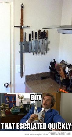 That awkward moment when you need a katana to chop carrots. . .