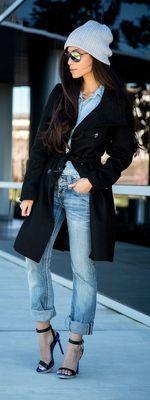 photo by pinterest秋冬のトレンドである「ノージェンダー」スタイル。大きめサイズのTシャツやシャツ、パ…