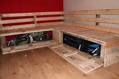 This DIY Pallet Sectional Sofa With Storage Is A Beautiful And Creative Example Of Recycling Crafting As Well