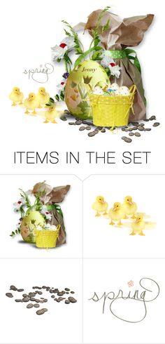 """spring is in the air"" by smile2528 ❤ liked on Polyvore featuring art"
