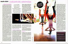 Pilates Aéreo , AeroYoga®: yoga aéreo en prensa Marie Claire México latino América, #PRENSA #tendencias #belleza #bienestar #wellness #ejercicio #arte #arts #bienetre #ayaeroyoga #yogaacrobatico #acro #exercice #aerialyoga #press #tv #television #rafaelmartinez #aeroyoga #yogaaereo #pilatesaereo #circus #trapecio #iogaaeri
