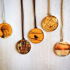 """You know your friend better than anyone else. Necklaces with miniature photos of the things that matter to her ($32-44) will let your best friend know just how much you """"get"""" her."""