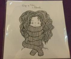 Wrap up warm and hibernate ORIGINAL DRAWING GREETINGS CARD - KATE WEBBER