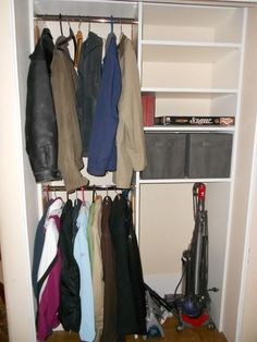 Neat Little Nest Organizing A Tiny Coat Closet Organize Closet