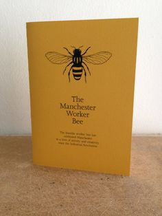 Manchester Worker Bee Card in Mancunian by TheManchesterBee, £2.50