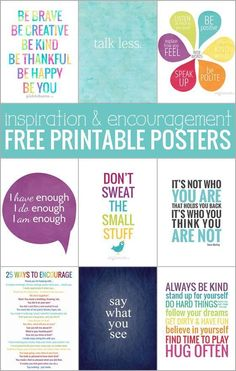 Ten free printable posters - for inspiration and encouragement! More #ArtAndCraft