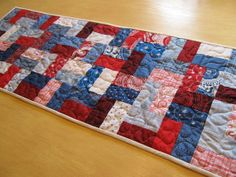 Americana Table Runner by bungalowquilts on Etsy, $38.00