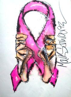 #shoes  #ballet  #breast cancer ribbon  #pink  #www.highheeledart.com  #mark schwartz