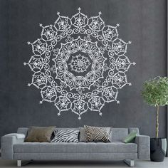 Bohemian Indian Pattern Mandala Wall Decals Floral Vinyl Stickers Yoga Art Ornament Design Interior Mural Removable Bedroom Home Decor AR400 by DecalHouse on Etsy https://www.etsy.com/listing/471085397/bohemian-indian-pattern-mandala-wall #IndianHomeDecor