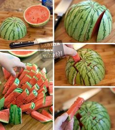 11 Food Hacks Every Parent Should Know Wassermelon.- 11 Food Hacks Every Parent Should Know Wassermelone richtig schneiden 11 Food Hacks Every Parent Should Know Wassermelone richtig schneiden - Comida Baby Shower, Cooking Tips, Cooking Recipes, Cut Watermelon, Watermelon Sticks, Watermelon Recipes, Fruit Recipes, Drink Recipes, Cake Recipes