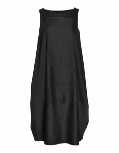 Is this dress weird or is it cool? Isolde Roth Linen cocoon dress in Black