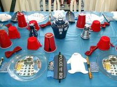 Can figure out how to make Daleks. Looks like little flower pot upside down , painted. Genius!